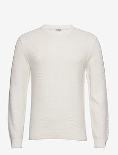 Sweaters - basic knitwear - off white