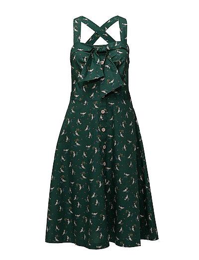 Dresses light woven - GREEN