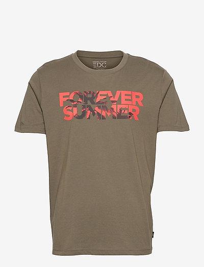 T-Shirts - kortærmede t-shirts - dark khaki