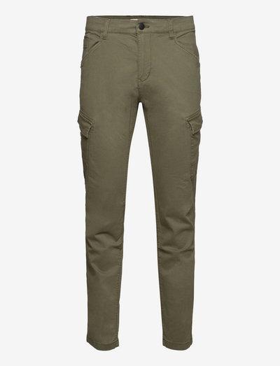 Pants woven - chino's - khaki green