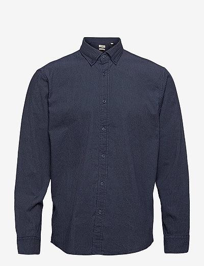 Shirts woven - hørskjorter - navy 4