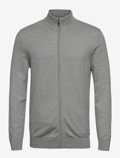 Sweaters - basic strik - medium grey 5