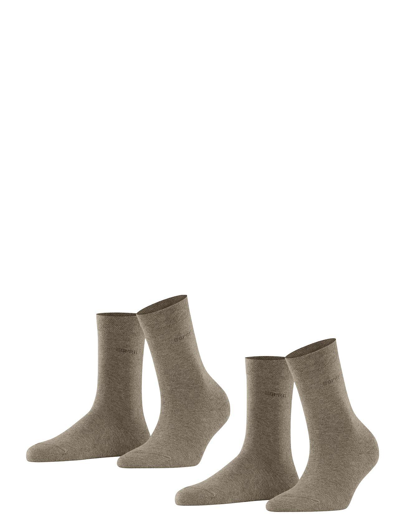 Image of Basic Easy So2p Underwear Socks Regular Socks Brun Esprit Socks (3083735361)