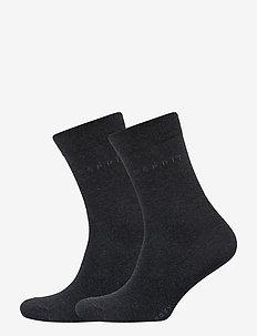 Basic Easy SO2P - vanlige sokker - anthra.mel