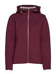 Jackets outdoor knitted - BORDEAUX RED