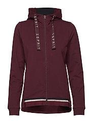 Sweatshirts cardigan - BORDEAUX RED