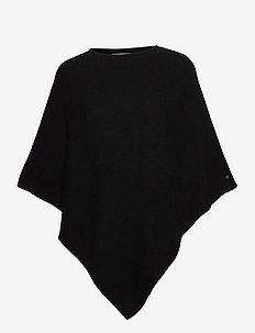 Shawls/Scarves - ponchos & capes - black