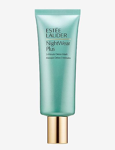NightWear Plus 3-Minute Detox Mask - kasvonaamiot - clear