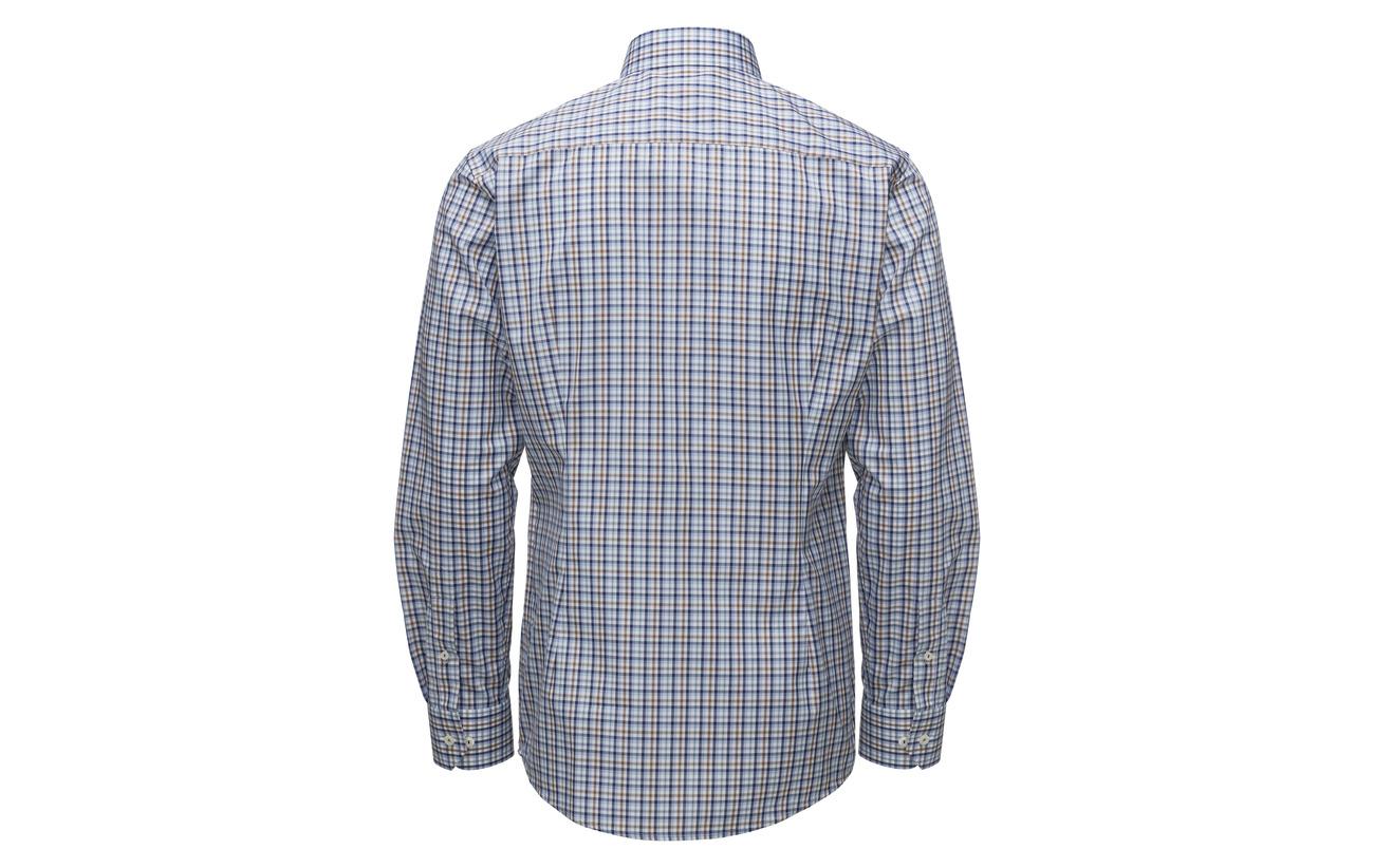 Eton Beige Offwhite Check brown amp; Blue Shirt A4Aqfx