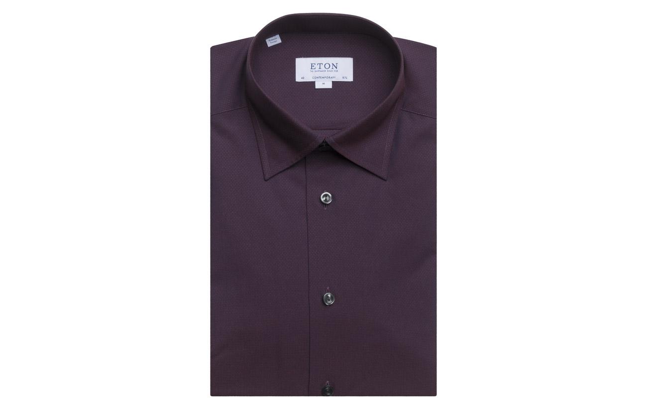 Button under red Red Pink Poplin Eton Shirt 5qRCA1w