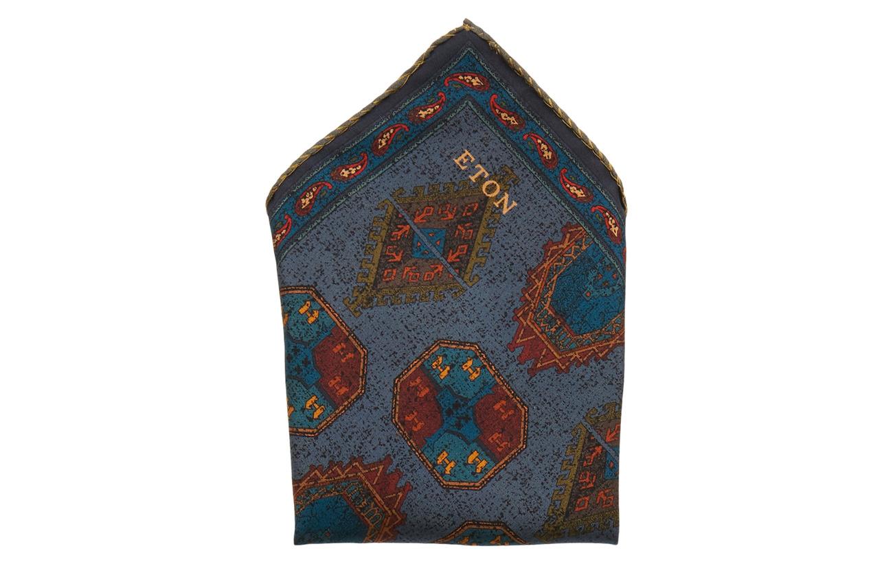 Eton grå Fuji Silk Pocket Square Slipsar & Accessoarer