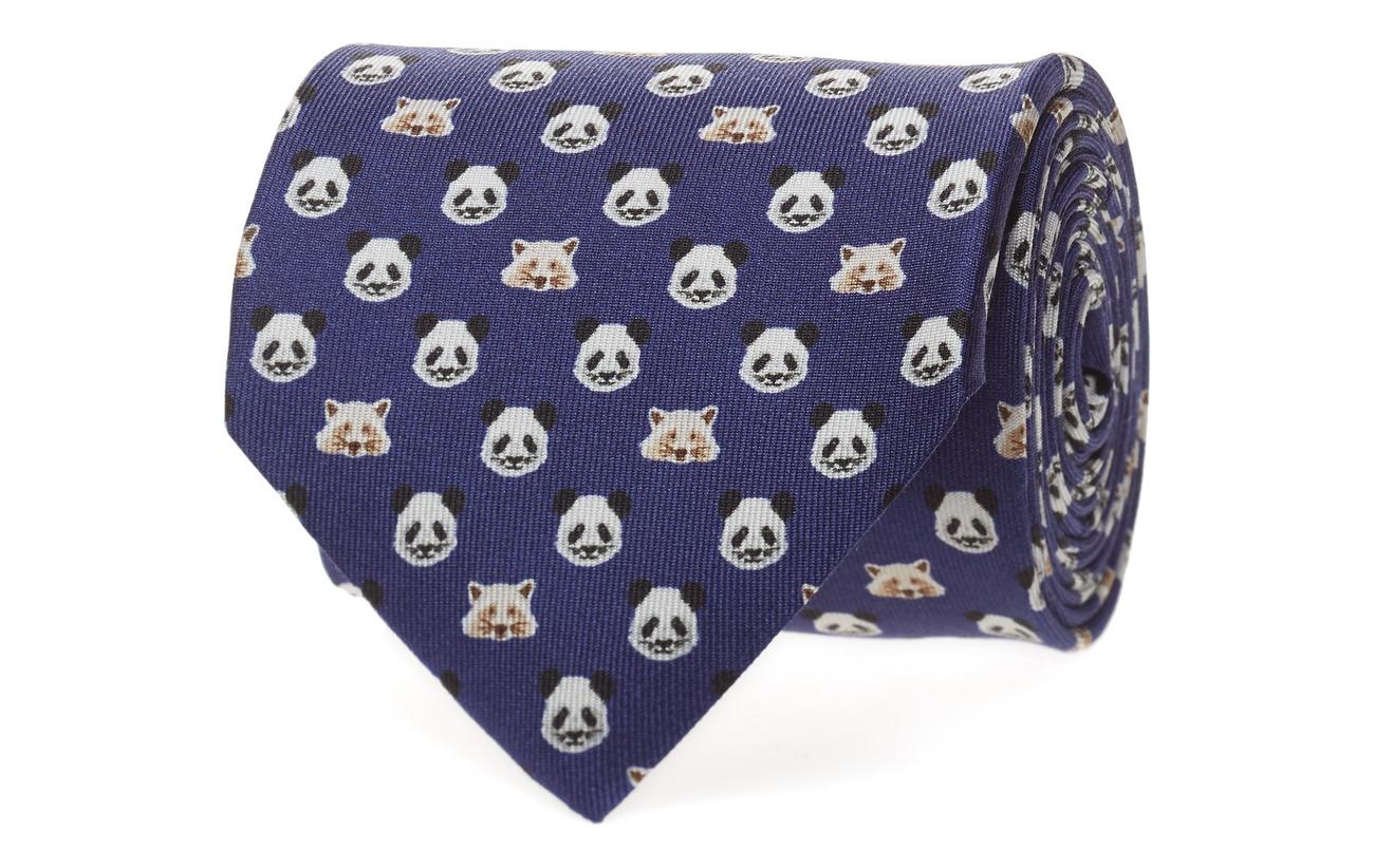 Eton Panda & Racoon Print Tie Slipsar & Accessoarer