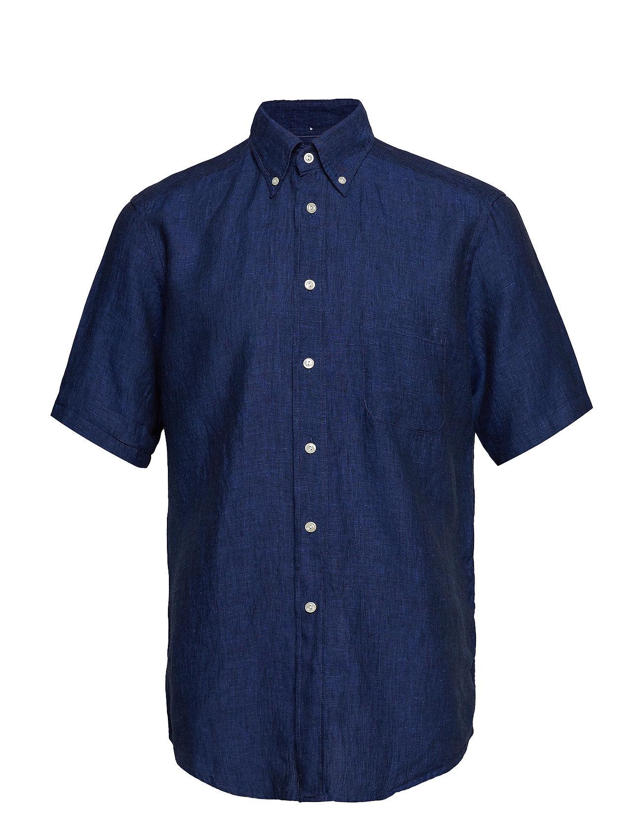 Eton Green Linen Short Sleeve Shirt