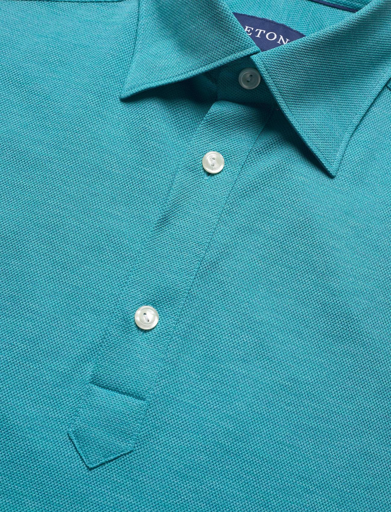 Eton Blue Polo Short Sleeve Popover Shirt - Poloskjorter BLUE - Menn Klær