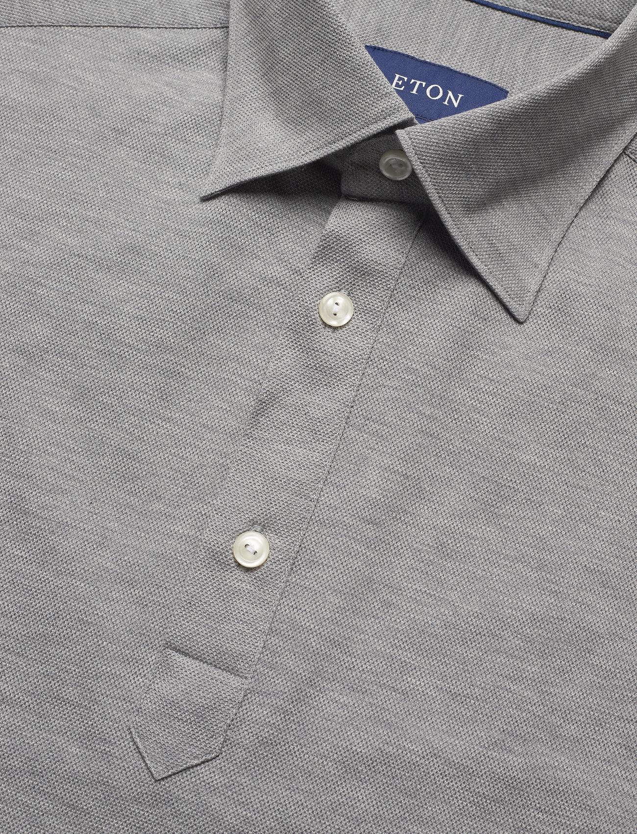 Eton Blue Polo Short Sleeve Popover Shirt - Poloskjorter GREY - Menn Klær