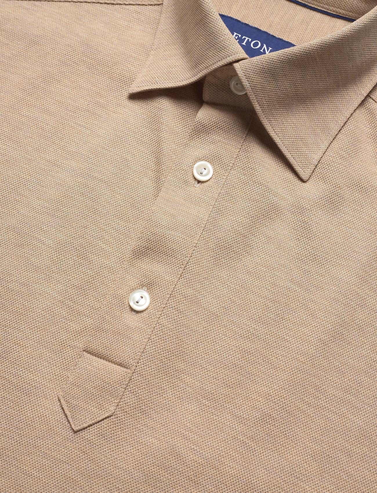 Eton Blue Polo Short Sleeve Popover Shirt - Poloskjorter OFFWHITE/BROWN - Menn Klær