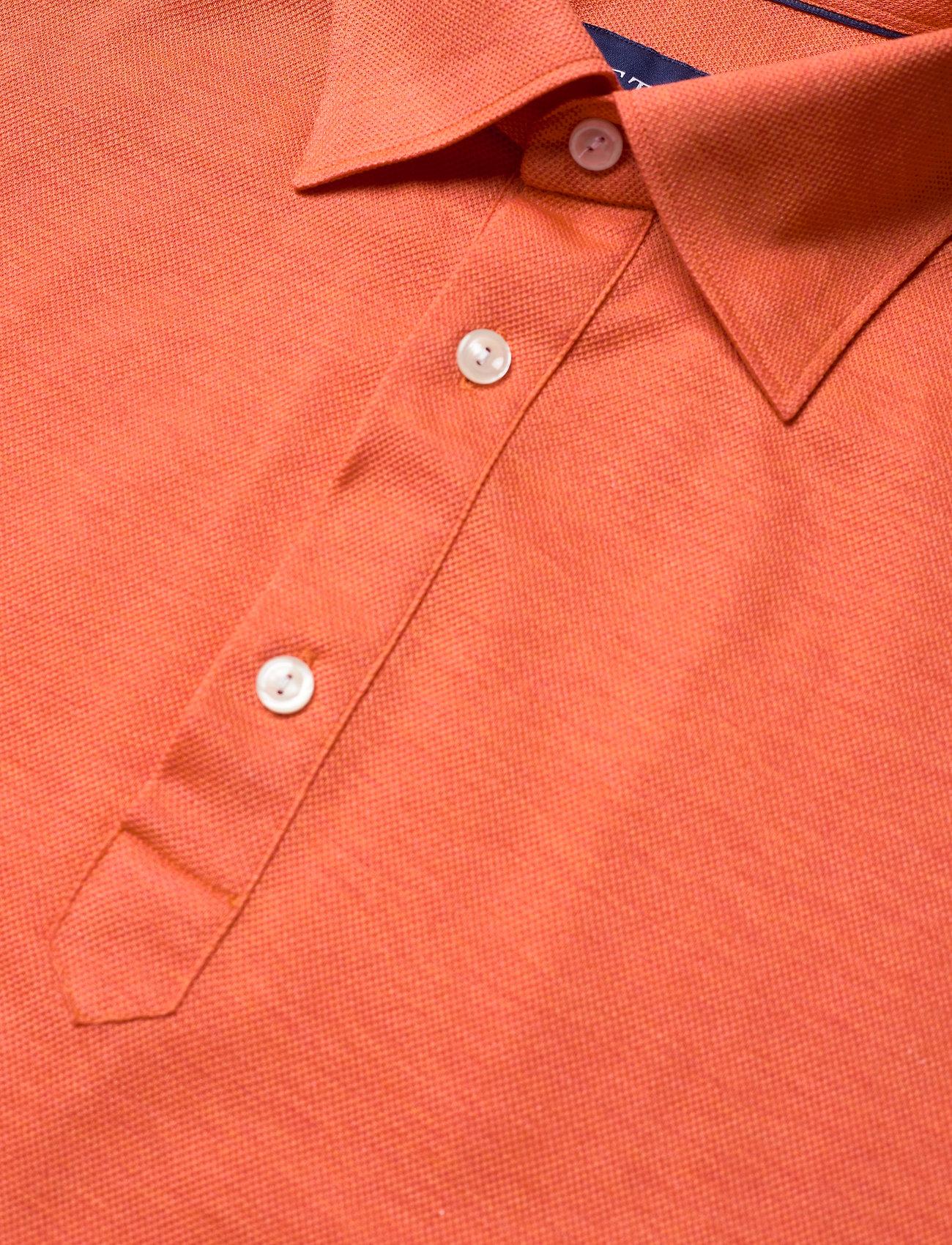 Eton Blue Polo Short Sleeve Popover Shirt - Poloskjorter YELLOW/ORANGE - Menn Klær