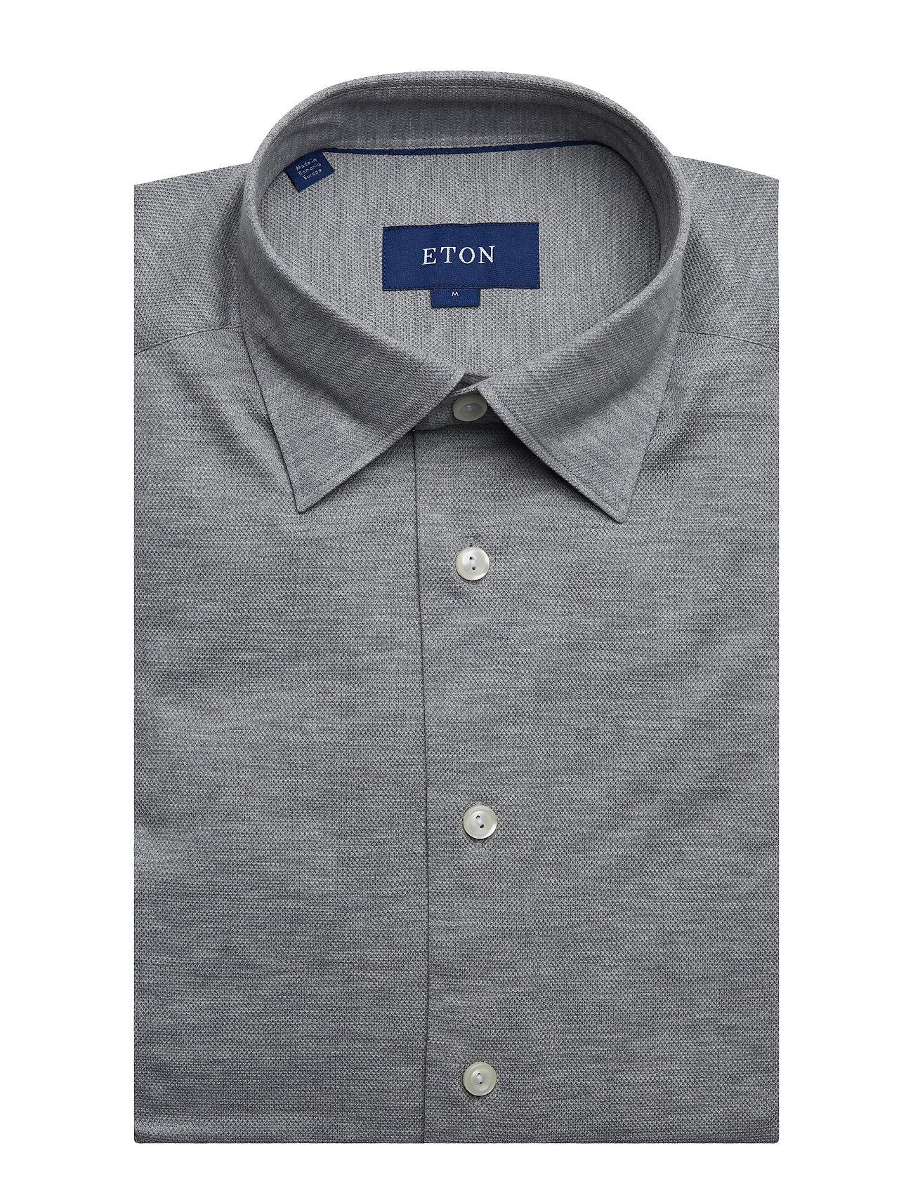 Eton Polo shirt - long sleeved - Skjorter GREY - Menn Klær