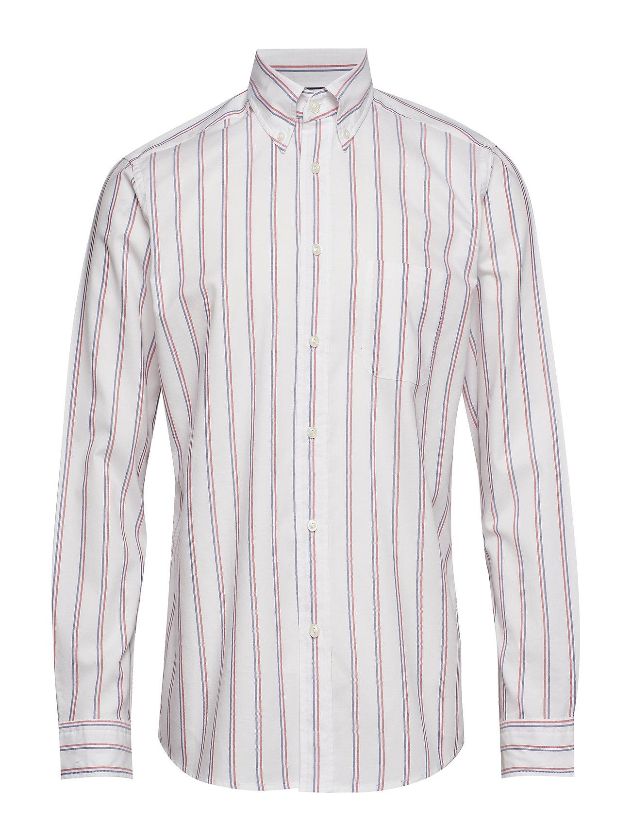 Eton Red Striped Short Sleeve Shirt - PINK/RED