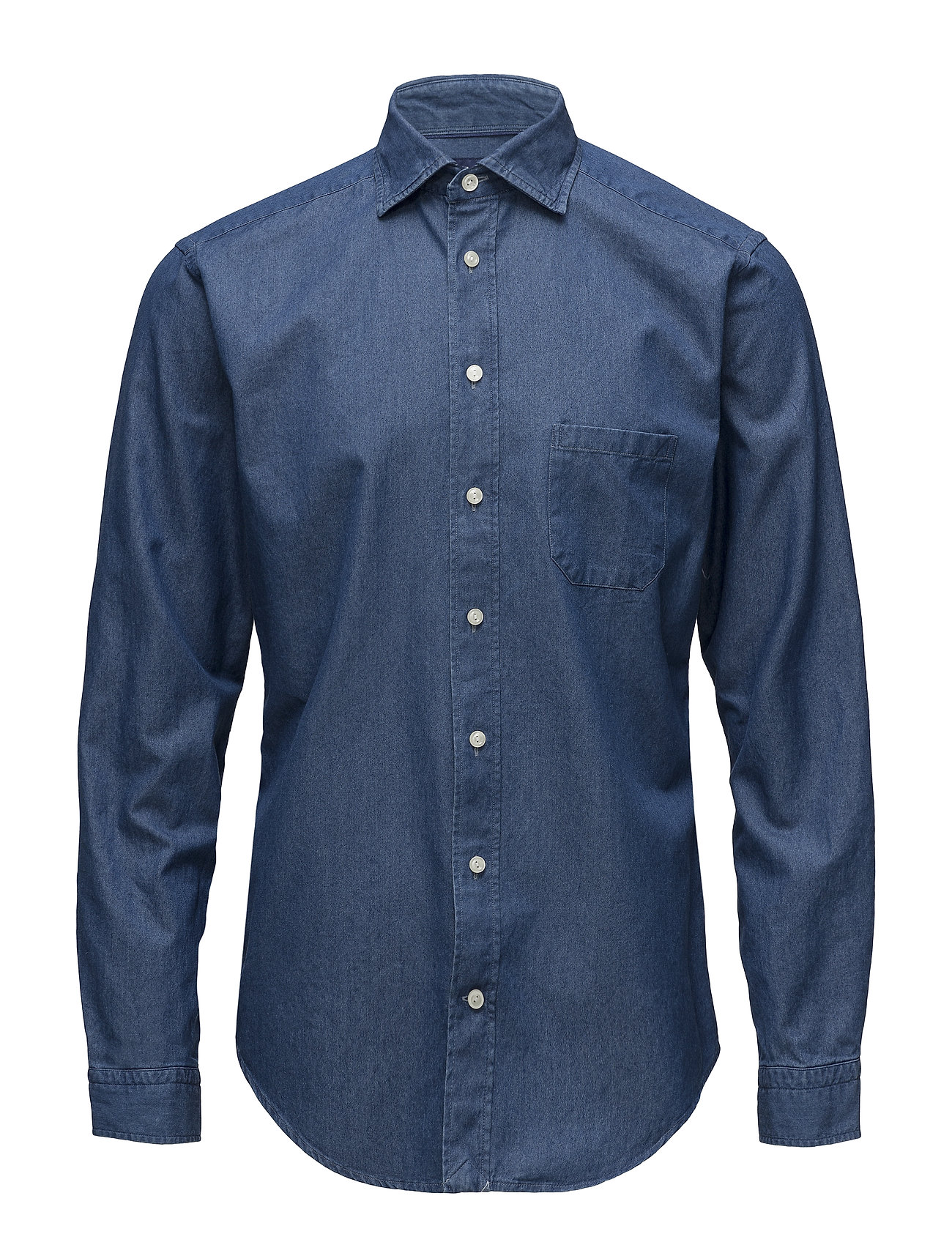 eff8d3b8e2 Denim Cut Away Shirt (Blue) (£135) - Eton - Shirts