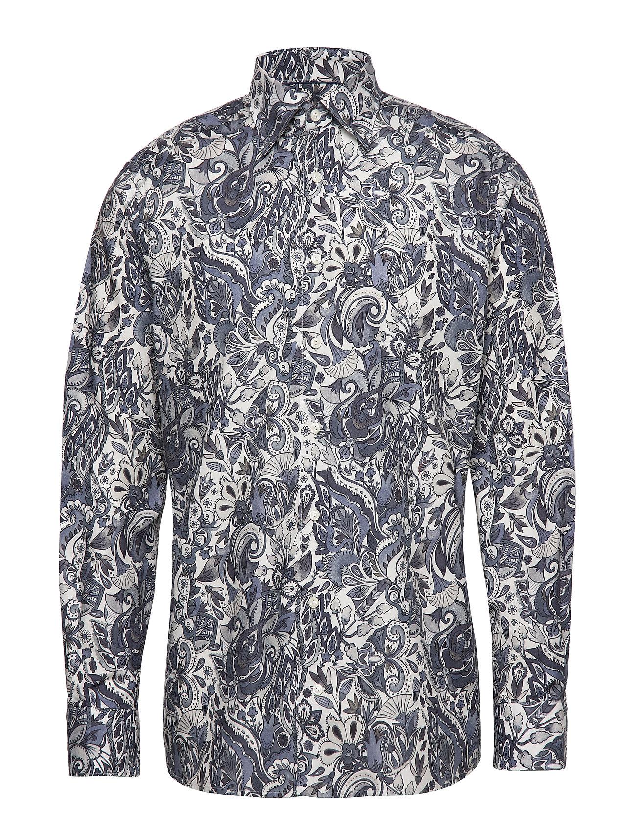 Blueamp; ShirtgreyEton White Flannel Soft Lightweight Paisley 7v6byYfg