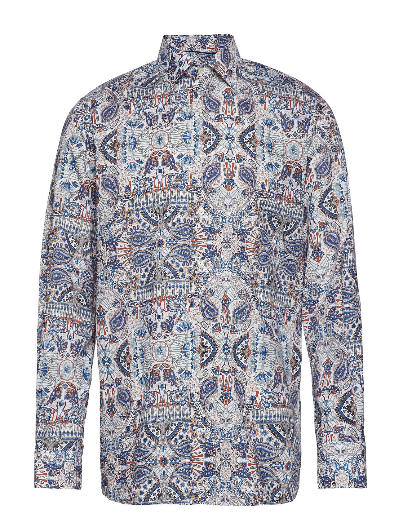 Ancient Shirtpink redEton Paisley Print Twill CrdoexWB