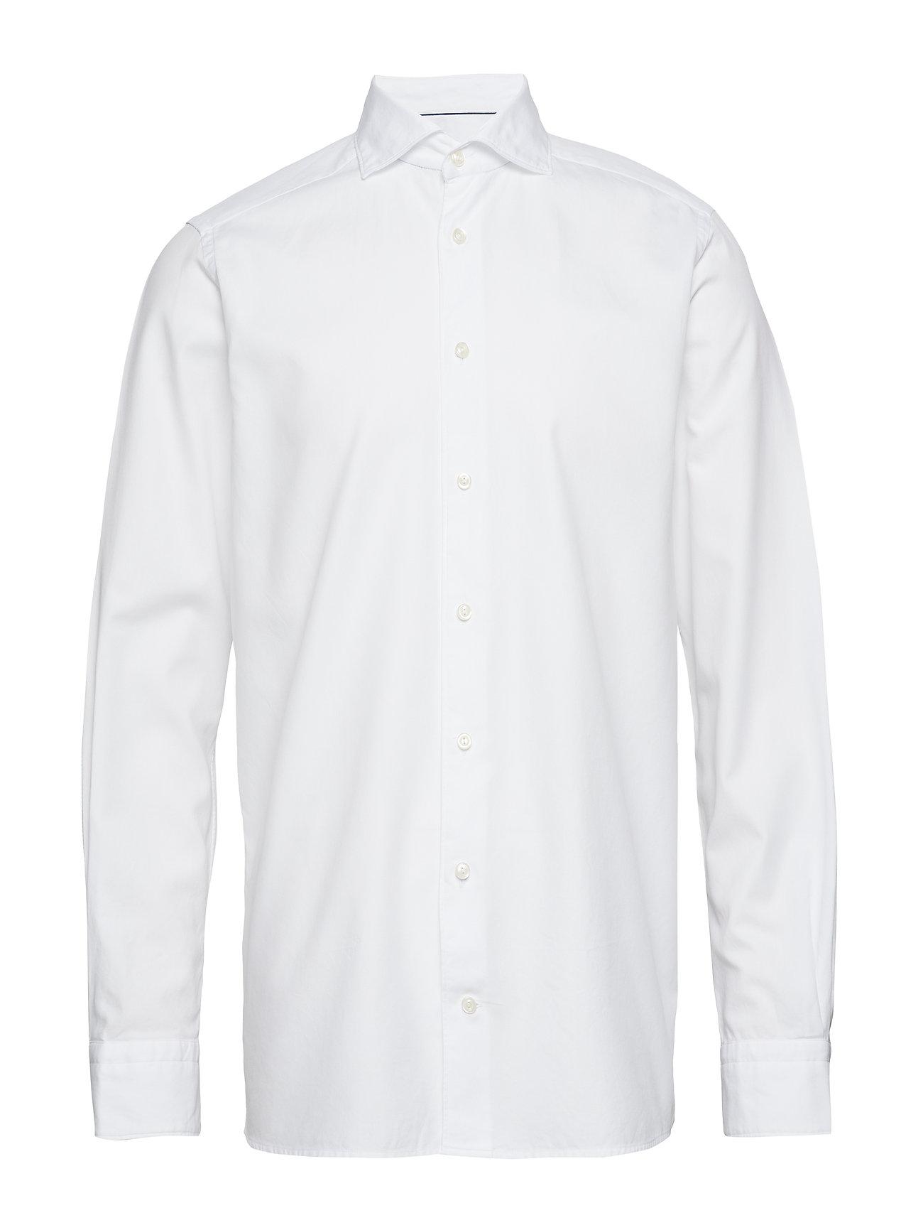 Eton Soft White Micro Weave Twill Shirt - WHITE
