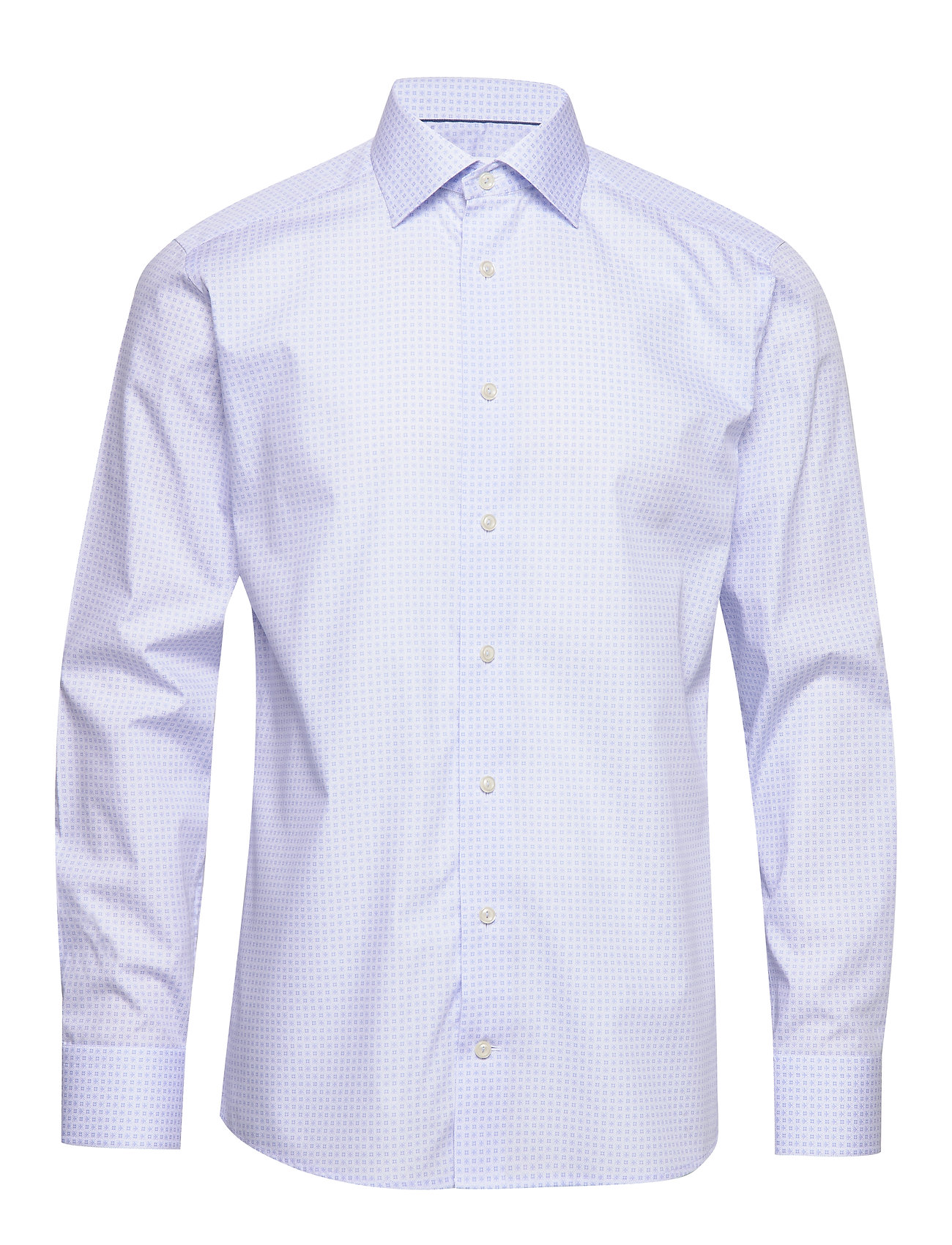 Eton Geometric Poplin Shirt - BLUE