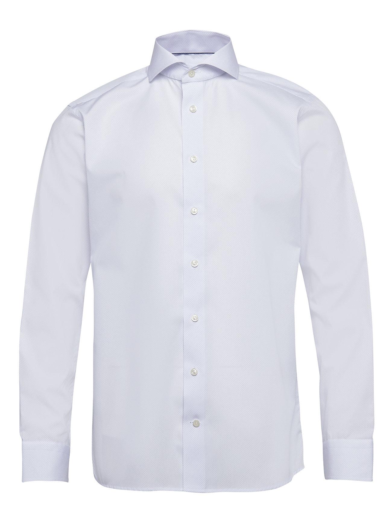 Eton Blue Twill Shirt - BLUE