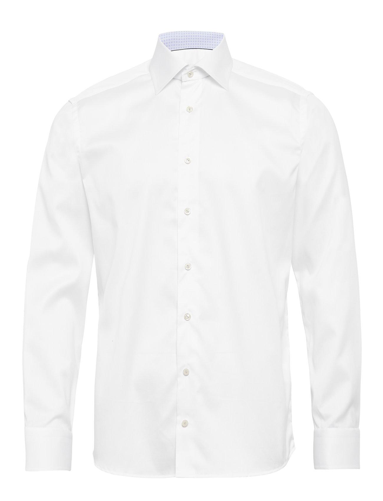 Eton White Twill Shirt – Paisley Details - WHITE