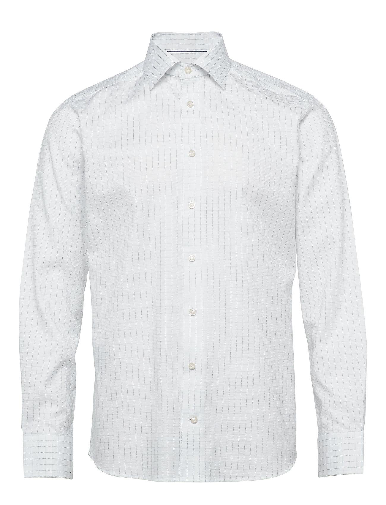 Eton Checked Dobby Shirt - BLUE