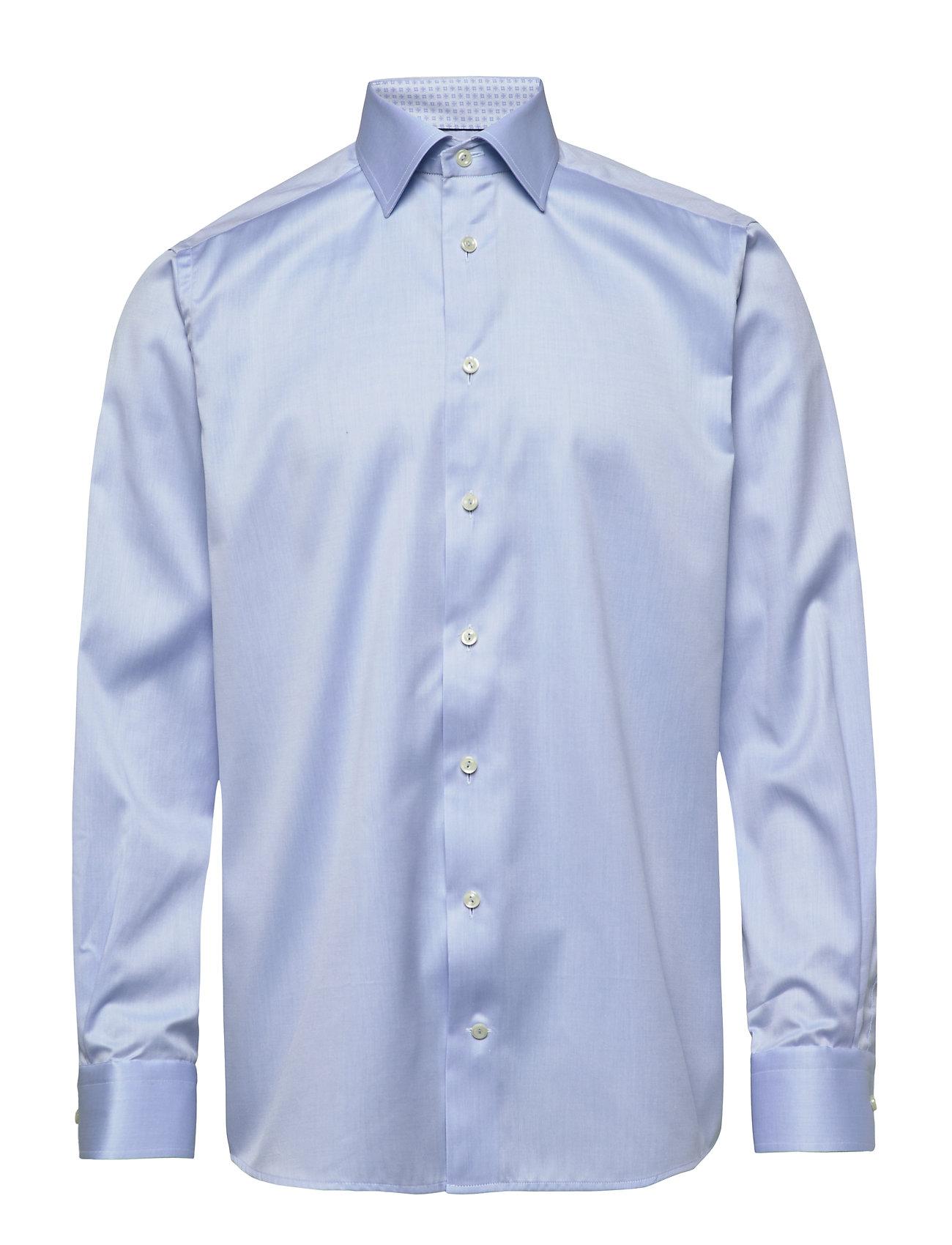 Eton Twill Shirt – Paisley Details - BLUE