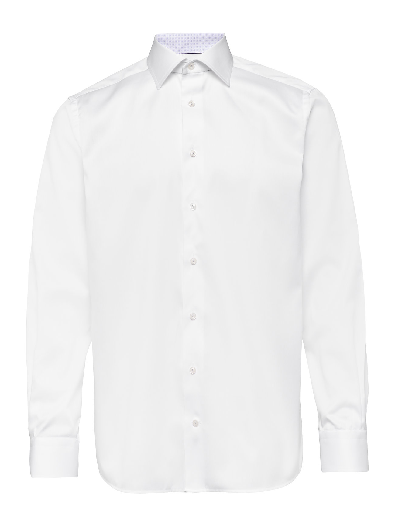 Eton Twill Shirt – Paisley Details - WHITE