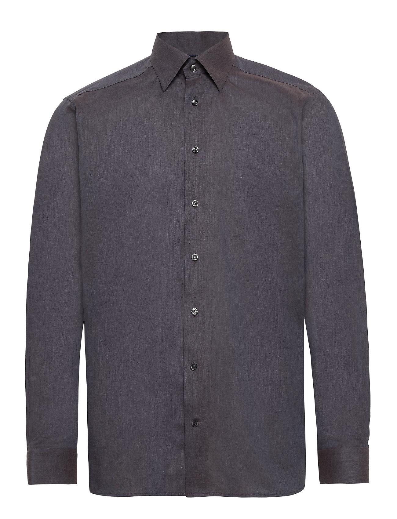 Eton Lightweight Flannel Shirt - Contemporary fit - GREY