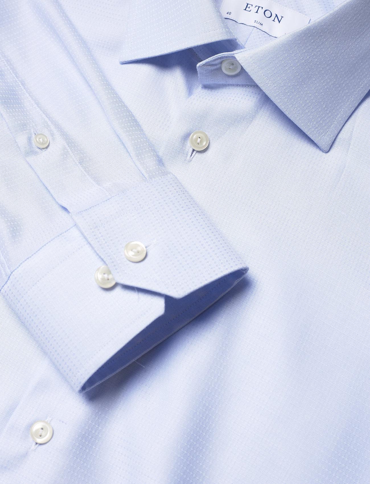 Eton Blue micro weave twill shirt - Skjorter BLUE - Menn Klær