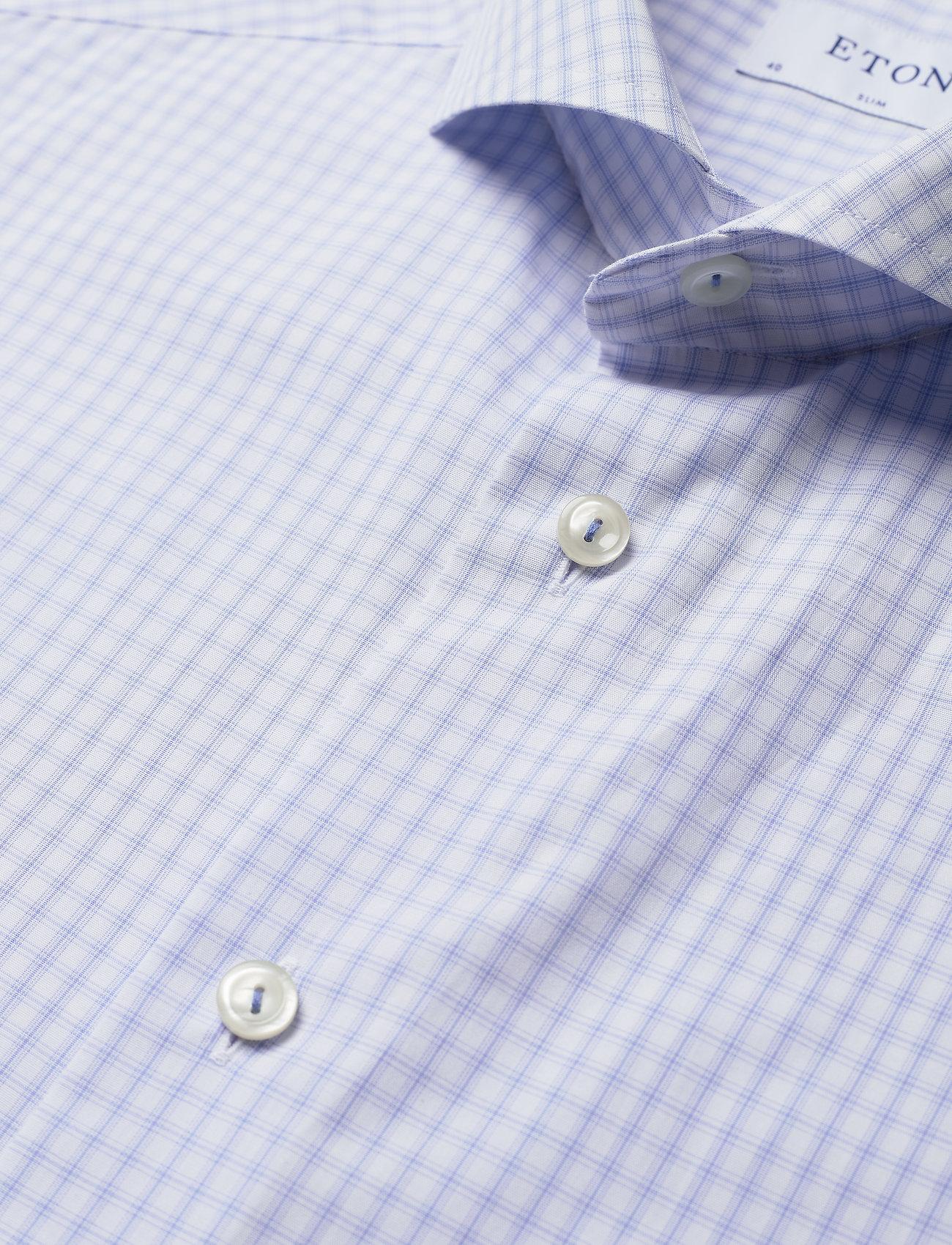 Eton Checks poplin shirt - Skjorter BLUE - Menn Klær
