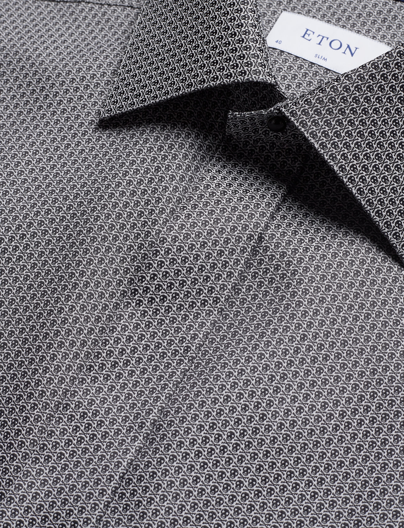 Eton Skulls evening shirt - Skjorter BLACK - Menn Klær