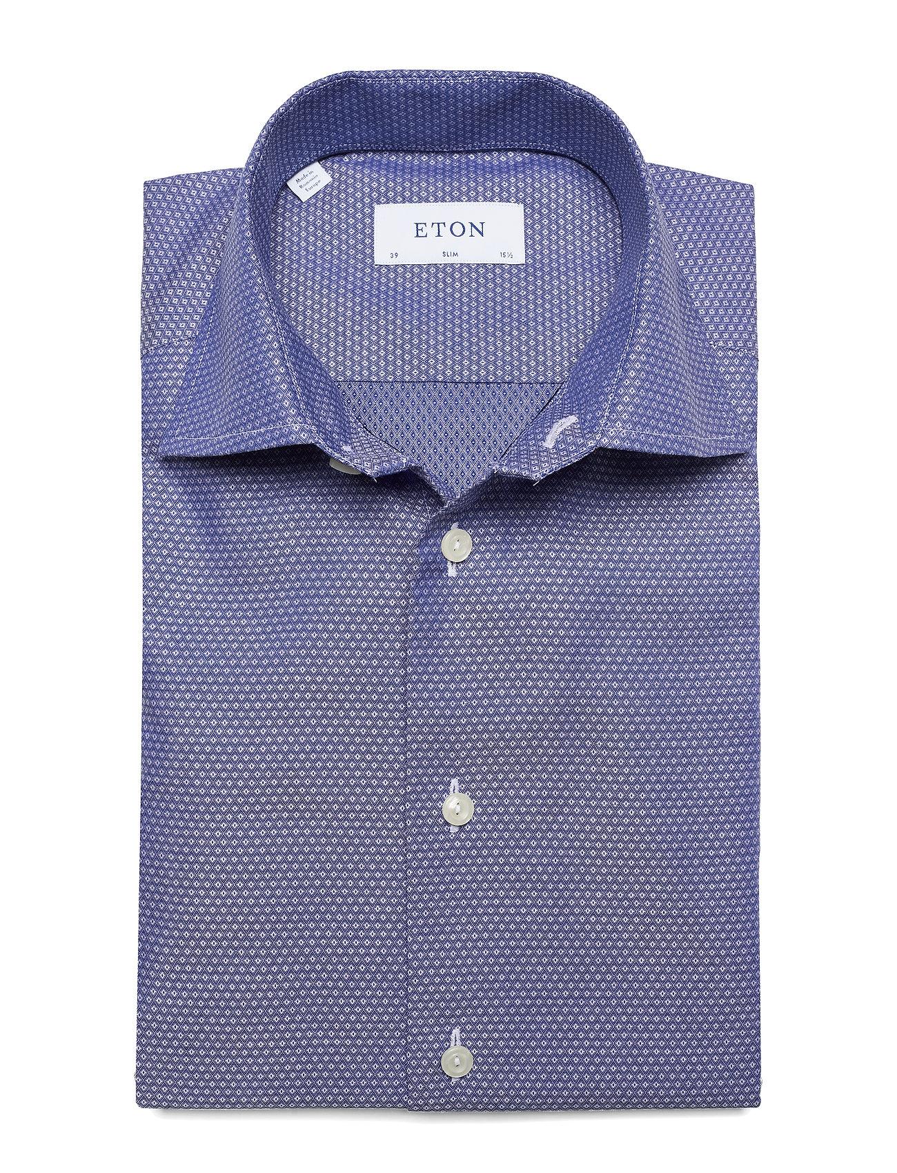 Eton Twill - Skjorter BLUE - Menn Klær