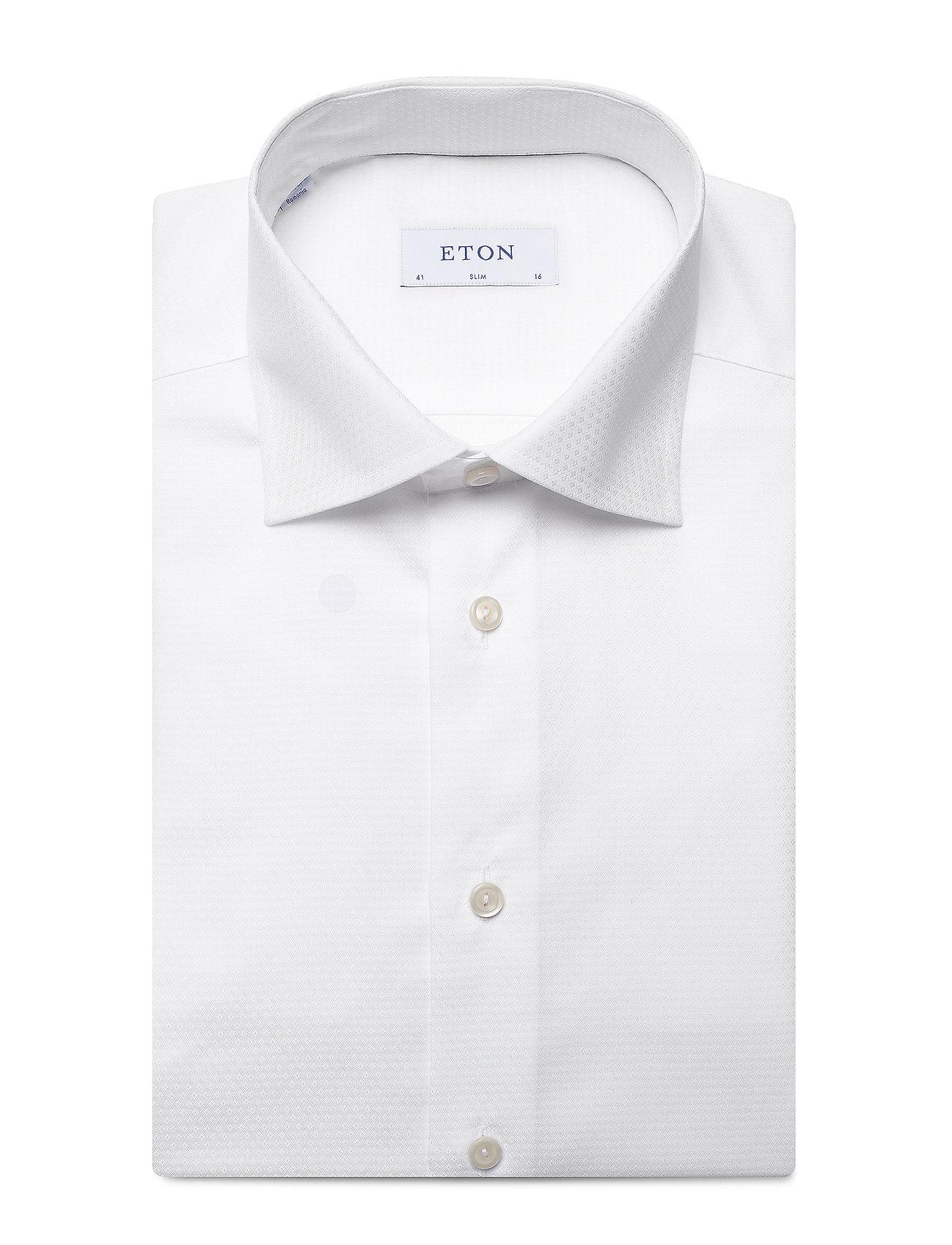 Eton Twill - Skjorter WHITE - Menn Klær