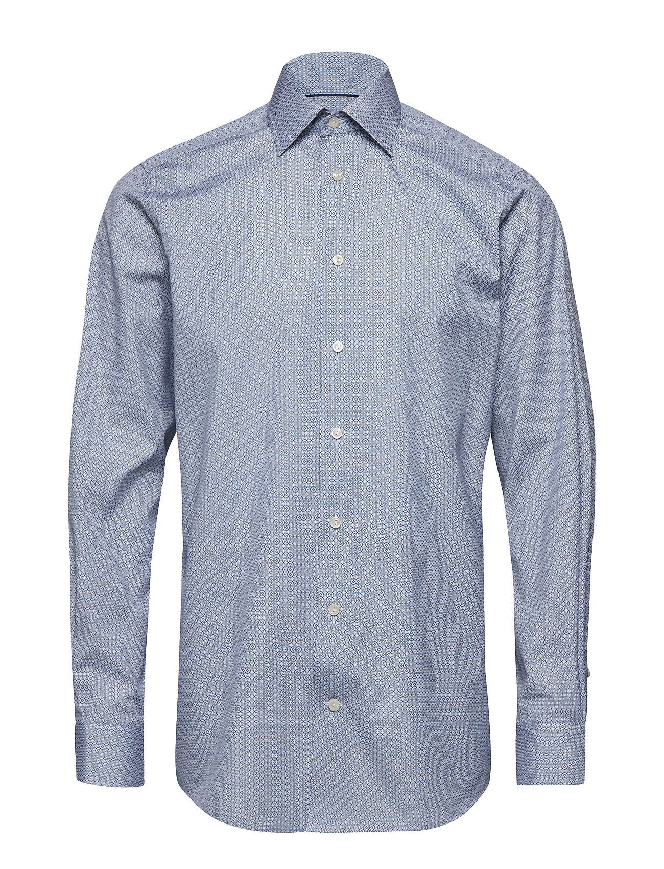 Eton Blue Mosaic Print Shirt - BLUE