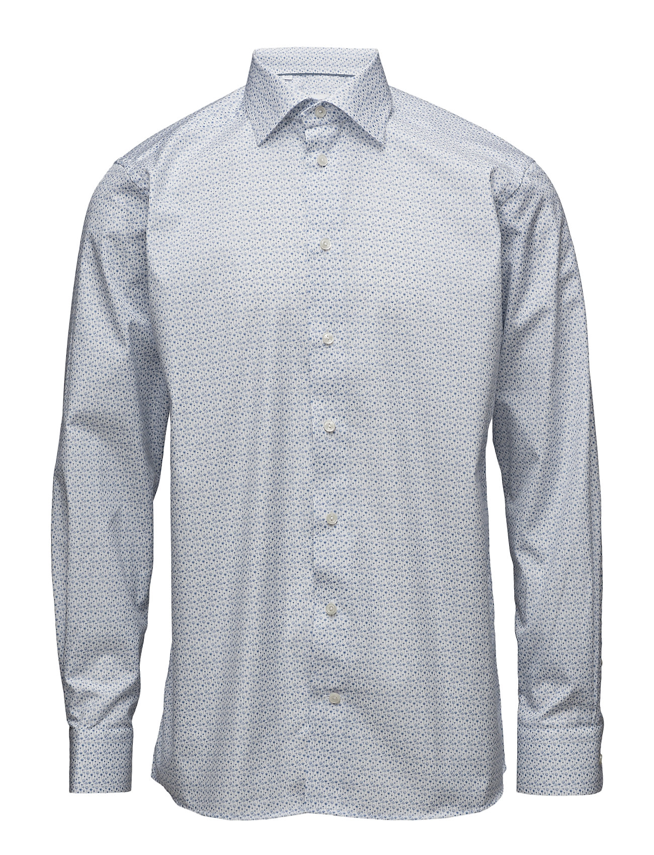Eton Poplin-Contemporary fit - BLUE