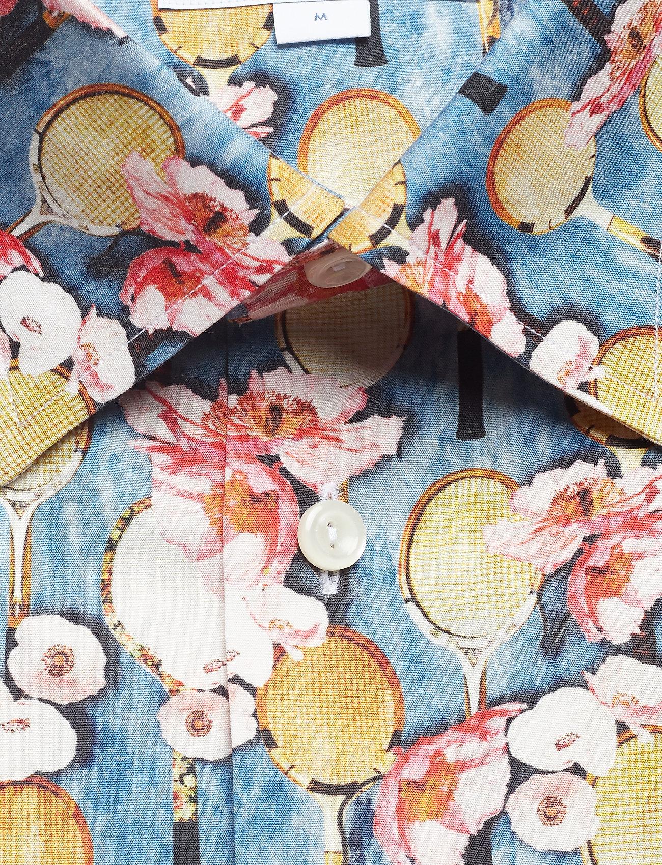 ShirtblueEton Flower Tennis Poplin Racket Print nPk0wO