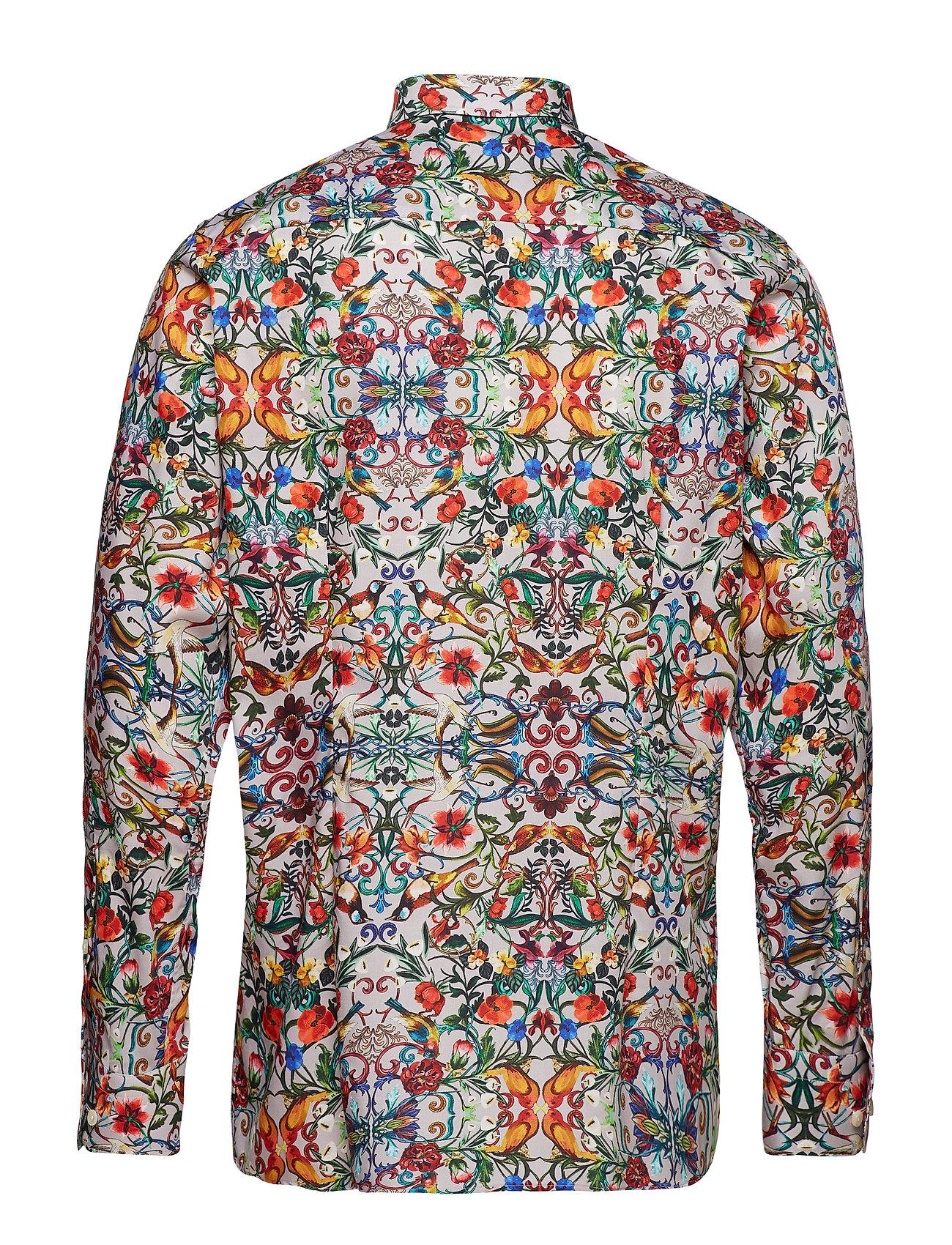 Gol O Bolbol Print Shirt Skjorte Business Multimønstret ETON