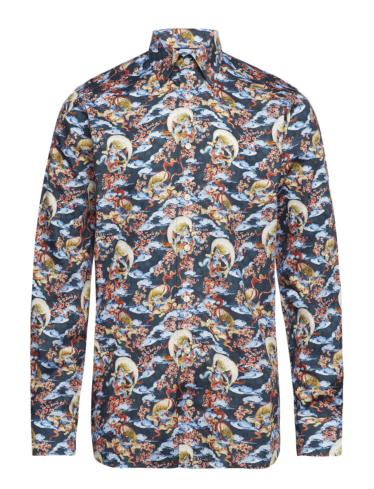 Eton Japanese Motif Print Shirt - BLUE