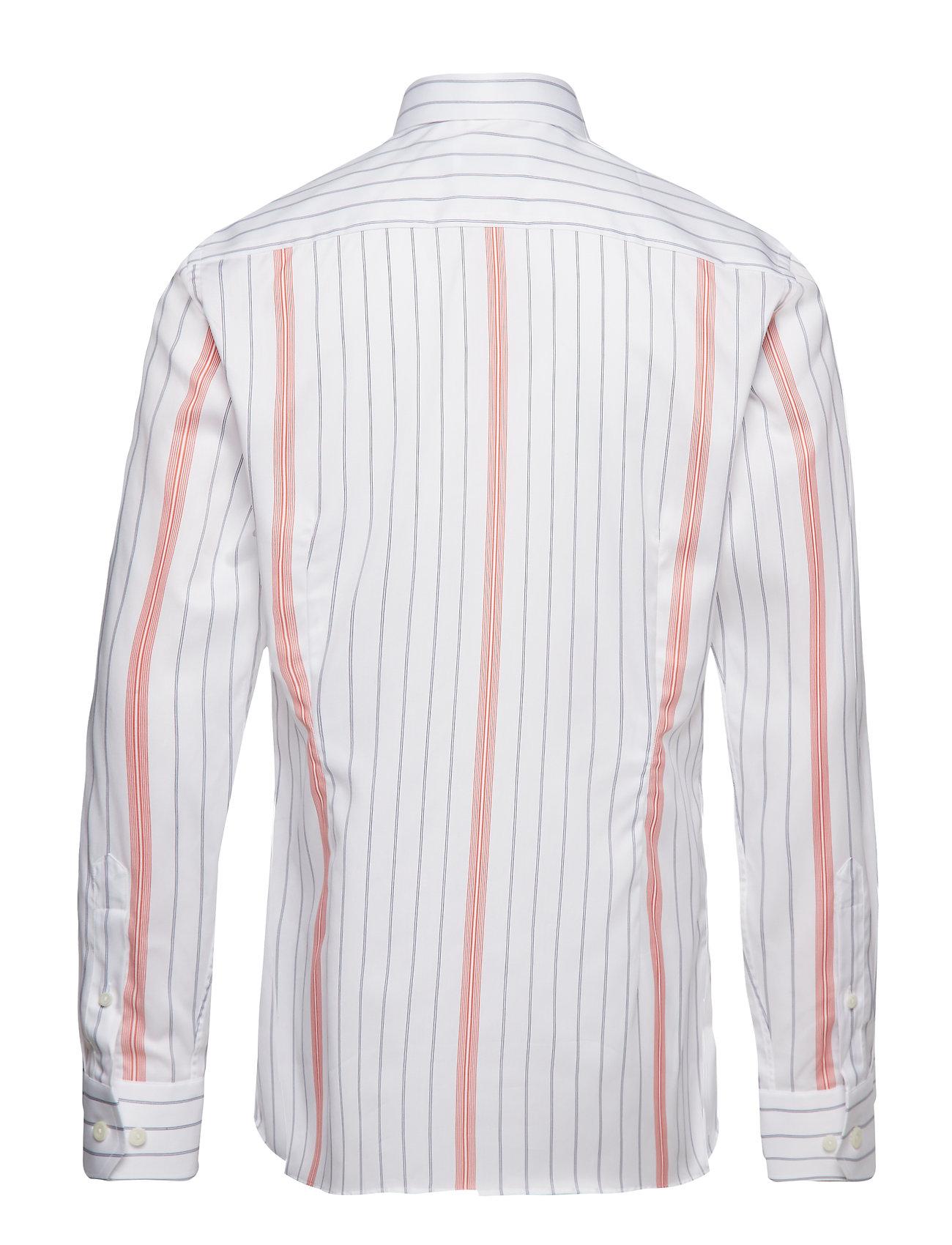 Eton - Striped Cotton-Tencel Shirt - chemises business - white