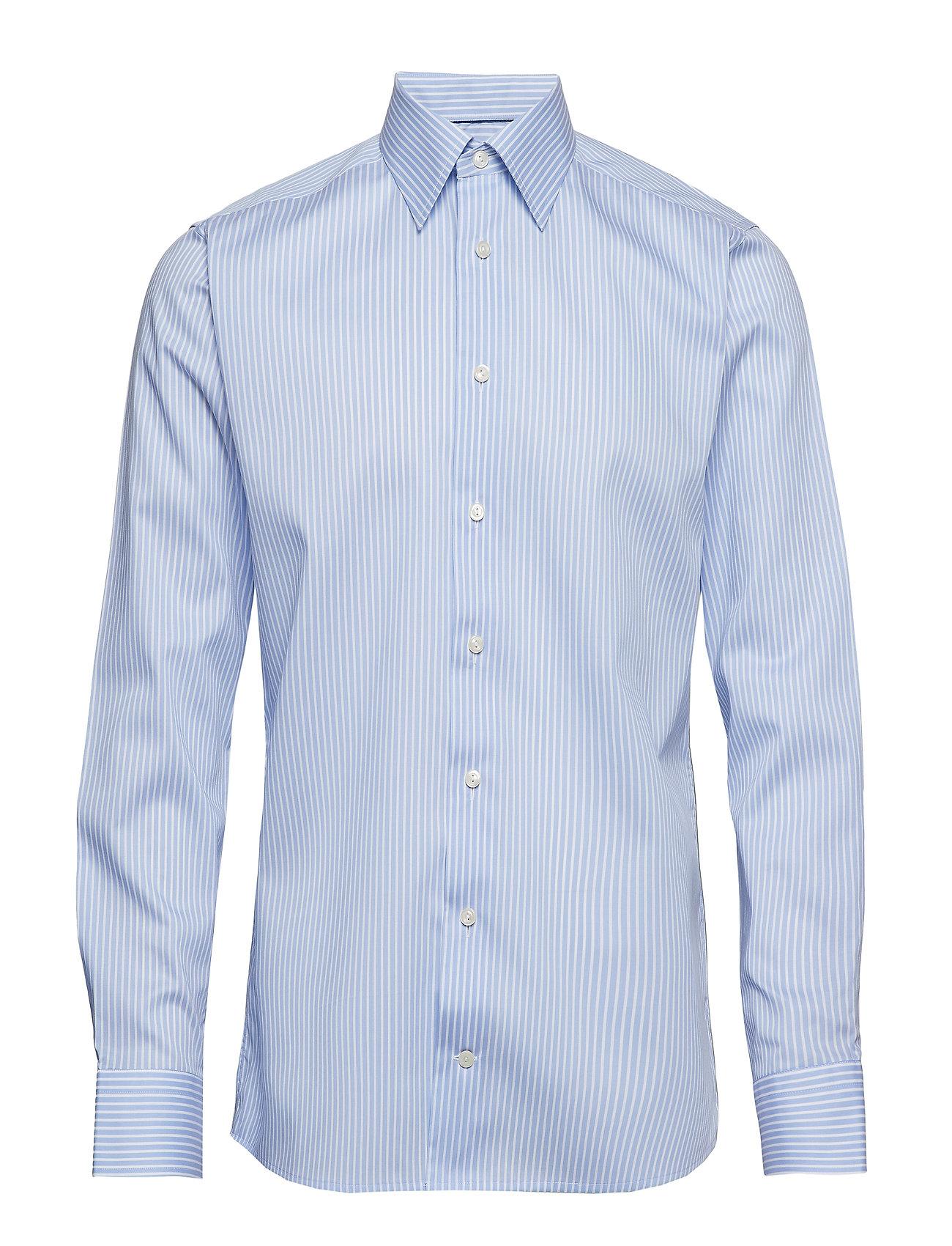 Eton Green Striped Natural Stretch Shirt