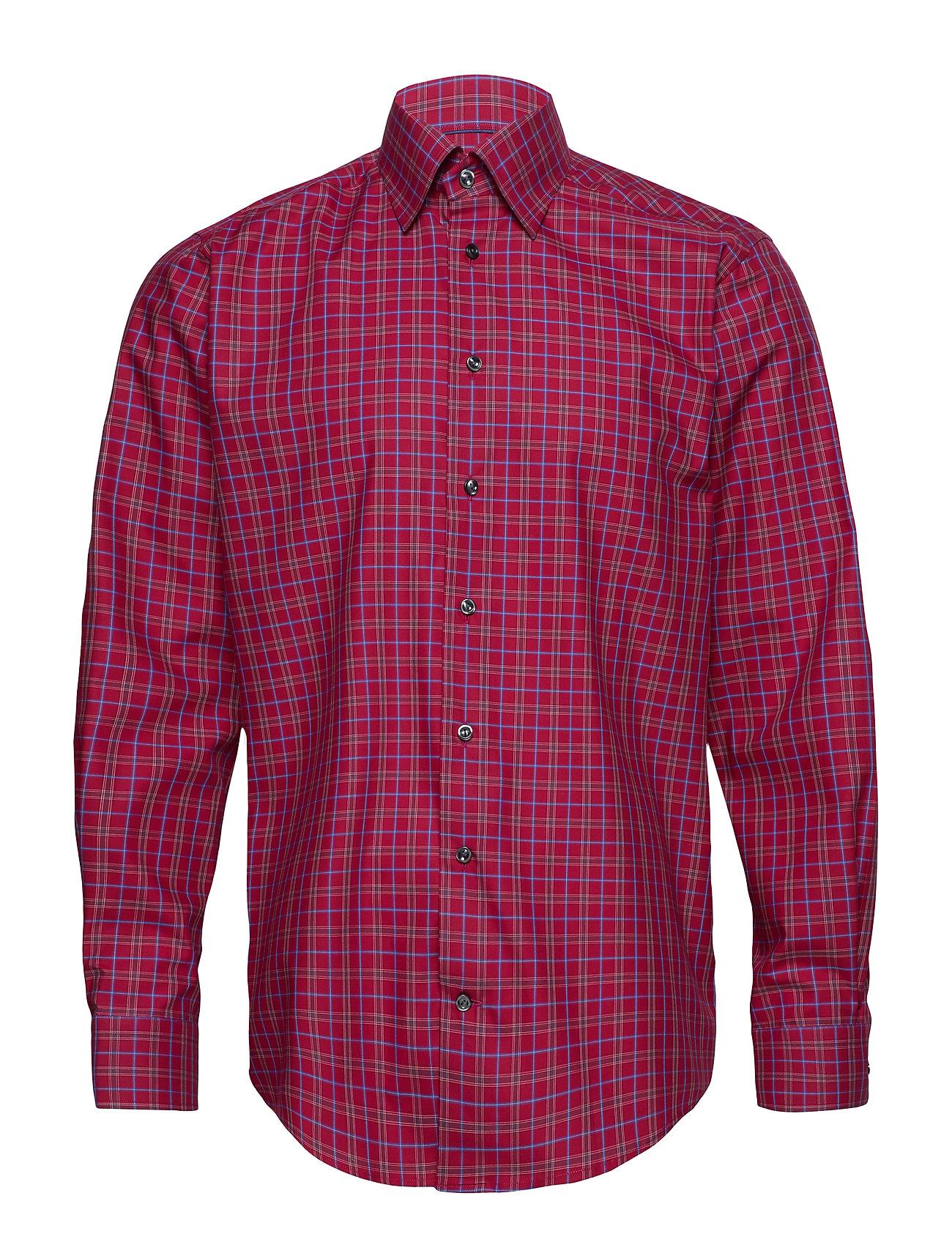 Eton Red Check Shirt - PINK/RED