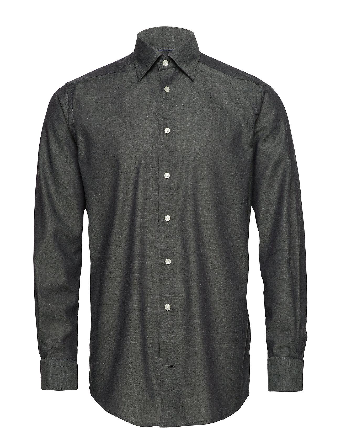 Eton grön Herringbone Flannel Shirt Ögrönlar