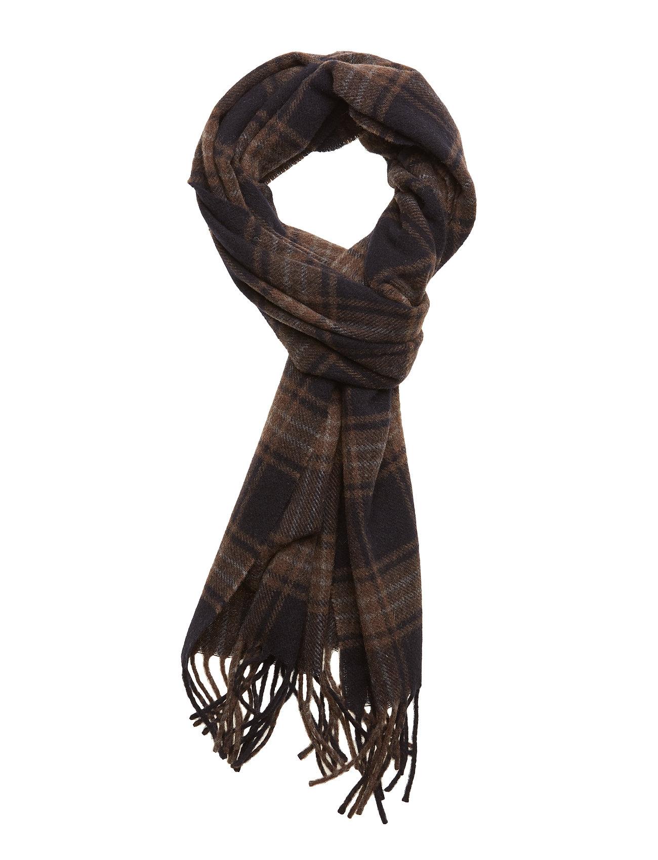 7b1eba679abb7 Eton Navy Checked Wool Scarf (Blue), (38.50 €) | Large selection of ...