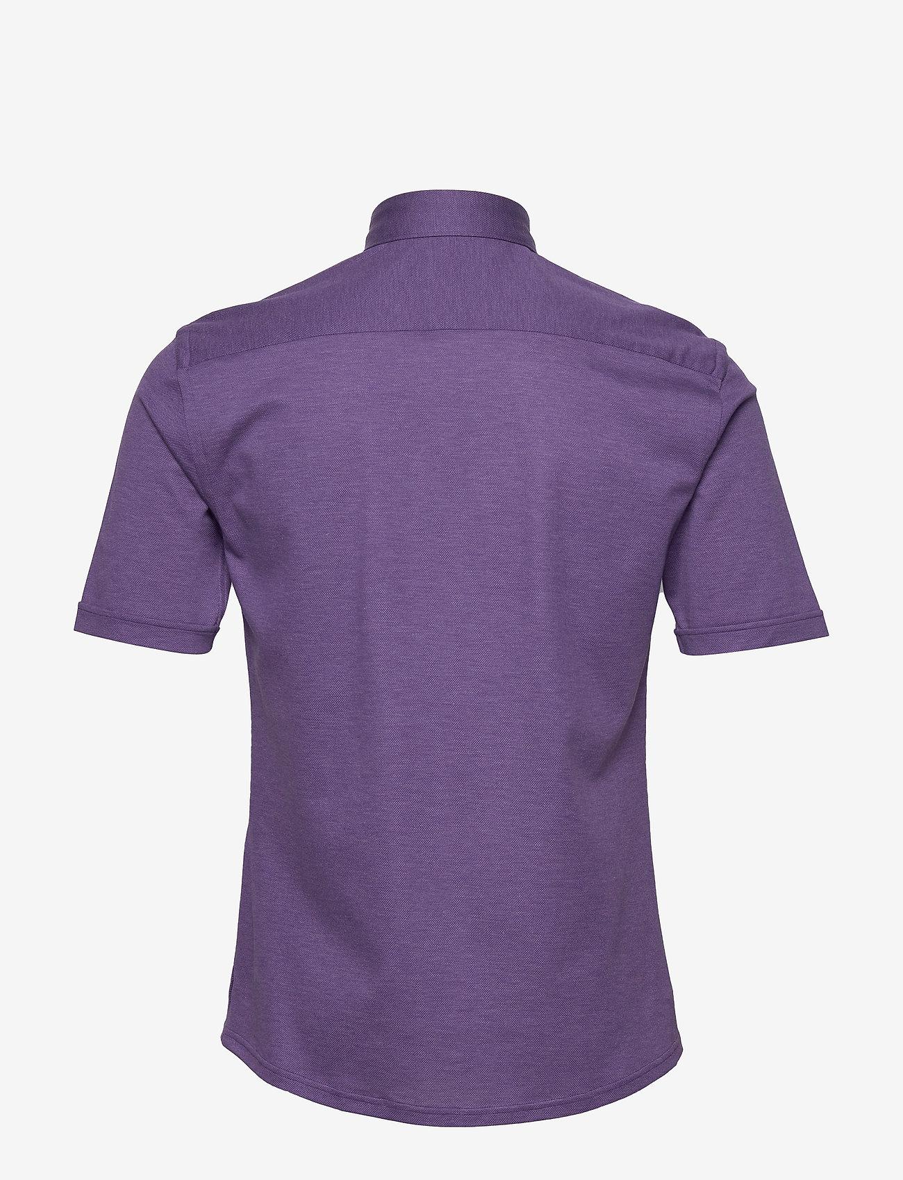Eton Blue Polo Short Sleeve Popover Shirt - Poloskjorter PURPLE - Menn Klær